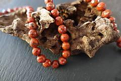 Minerály - Jaspis červený fazetovaný 8mm - 6917115_