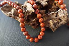 Minerály - Jaspis červený fazetovaný 8mm - 6917122_