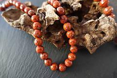 Minerály - Jaspis červený fazetovaný 8mm - 6917125_