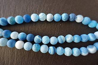 Minerály - Achát modrý praskaný 10mm - 6917359_