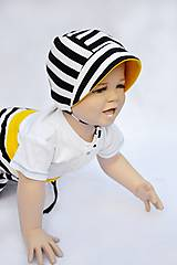 Detské čiapky - čepček úpletový - pruhy rôzne farby - 6916925_