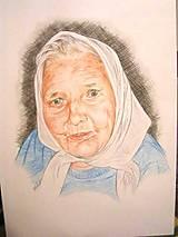 Kresby - babička - portrét A3 farebný - 6916564_