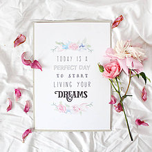 Grafika - Artprint // start living your dreams - 6917455_