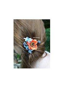 Ozdoby do vlasov - lúčne kvety do vlasov - 6917050_