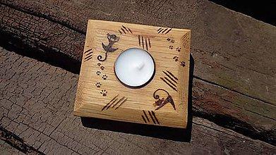 Svietidlá a sviečky - Svietnik Mačkovitý - 6916076_