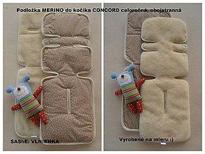 Textil - Podložka do kočíka CONCORD Wanderer 100% merino /celoročná/ obojstranná - 6920501_