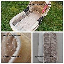 Textil - Podložka do kočíka CONCORD scout 100% merino - 6920643_
