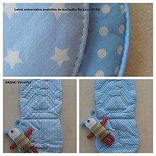 Textil - Letná univerzálna podložka do kočíka a autosedačky De Luxe STAR - 6921163_
