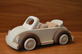 """Hračky - Drevené autíčko """"cabriolet"""" - 6920768_"""