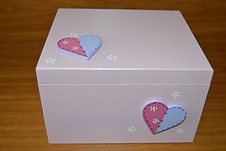 Krabičky - Kazeta maľovaná so zrkadlom malá - 6921316_