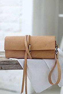Kabelky - Listová kabelka na zápästie MINI NATURAL - 6919756_