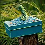 Krabičky - Morský koník a perla - šperkovnica/krabica - 6920929_
