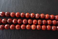 Minerály - Jaspis červený fazetovaný 8mm - 6919218_