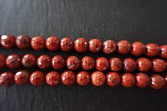 Minerály - Jaspis červený fazetovaný 8mm - 6919219_