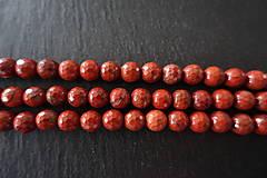 Minerály - Jaspis červený fazetovaný 8mm - 6919220_