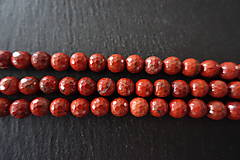Minerály - Jaspis červený fazetovaný 8mm - 6919221_