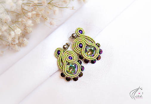 Náušnice - My little soutache - 6919024_