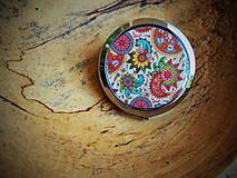 Zrkadielka - Zrkadielko s krásnym pestrým vzorom - 6920007_