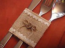 Úžitkový textil - Jutový držiak s gombíkom - 6919879_