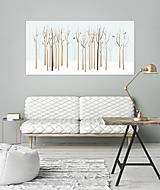 Grafika - Veľký les a rôznorodé vtáctvo (modré) - 6920815_