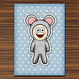 Papiernictvo - Zápisník zvierací kostým (bodkovaný) - myš  - 6919468_