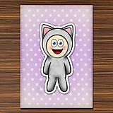 Papiernictvo - Zápisník zvierací kostým (bodkovaný) - mačka - 6919750_