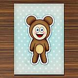 Papiernictvo - Zápisník zvierací kostým (bodkovaný) - macko - 6919835_