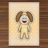 Papiernictvo - Zápisník zvierací kostým (bodkovaný) - psík - 6920077_