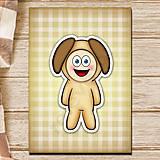 Papiernictvo - Zápisník zvierací kostým (károvaný) - havko - 6920334_