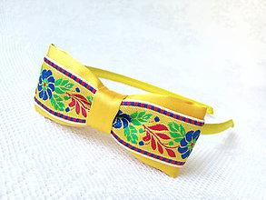 Ozdoby do vlasov - Sweet folklore headband (yellow) - 6922498_