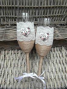 Nádoby - Svadobné poháre biele - 6923150_