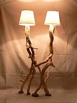 Svietidlá a sviečky - Ručne vyrobené svietidlo -  drevená skulptúra - 6922873_
