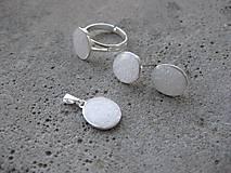 Sady šperkov - Ováliky - sada, postriebrené Ag - 6921790_