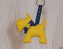 - Prívesok na kľúče - žltý psík - 6923181_