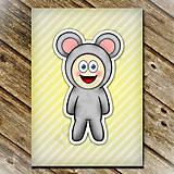 Papiernictvo - Zápisník zvierací kostým (pruhovaný) - myš  - 6921546_