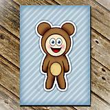 Papiernictvo - Zápisník zvierací kostým (pruhovaný) - medvedík - 6922169_