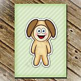 Papiernictvo - Zápisník zvierací kostým (pruhovaný) - psík - 6922817_