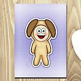 Papiernictvo - Zápisník zvierací kostým (textúra) - psík - 6922955_