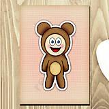 Papiernictvo - Zápisník zvierací kostým (textúra) - macík - 6923251_