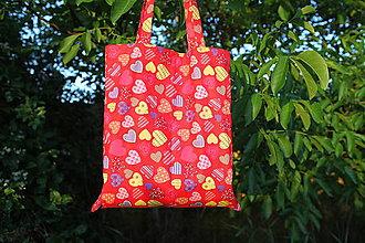 Nákupné tašky - Srdiečková taška - 6926017_