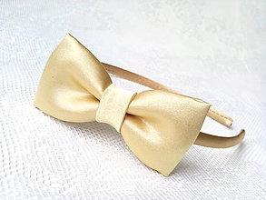 Ozdoby do vlasov - Mini Pin Up headband (gold) - 6924275_