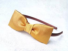 Ozdoby do vlasov - Mini Pin Up headband (copper/brown) - 6924288_