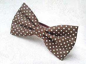 Ozdoby do vlasov - Pin Up headband (brown/small white polka dots) - 6924299_
