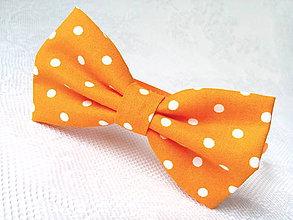 Ozdoby do vlasov - Pin Up headband (orange/white polka dots) - 6924330_