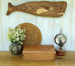 Dekorácie - Drevená ryba - veľryba - 6924234_