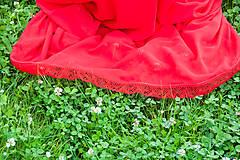 Sukne - Červená folk sukňa - 6924837_