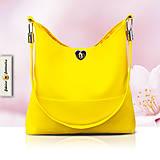 Kabelky - Bella Žltá - štýlová dámska kabelka na plece - 6923921_