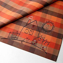 Úžitkový textil - NA VENKOVĚ - napron 70x70 cm - 6925757_