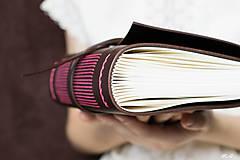 Papiernictvo - Ručne viazaný kožený zápisník Rozália / čisté strany - 6925760_