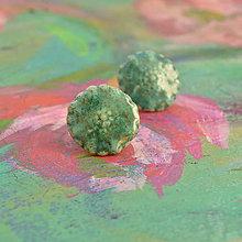 Náušnice - Ceramic Poppies - puzetové náušnice - 6926581_